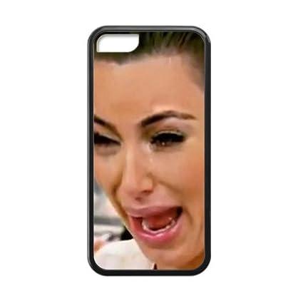 new style dcdaf 805a1 Kim Kardashian ugly cry fashion plastic phone case for iPhone 5c ...