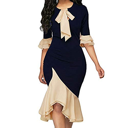 - Sunmoot Asymmetrical Bodycon Dresses Women Sexy Butterfly Half Sleeve O-Neck Cocktail Party Gown