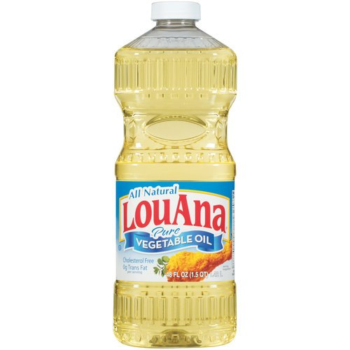 LOU ANA ALL NATURAL PURE VEGETABLE COOKING OIL 48 OZ