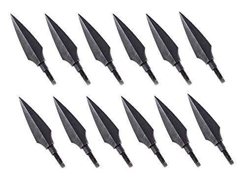 Huntingdoor 12pcs Screw-In Broadheads 150 Grain Traditional Hunting Arrow Head For DIY Flying Arrow Archery