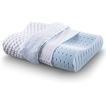 Cr Sleep Ventilated Memory Foam Contour Pillow with AirCell Technology, Standard, 1-Pack