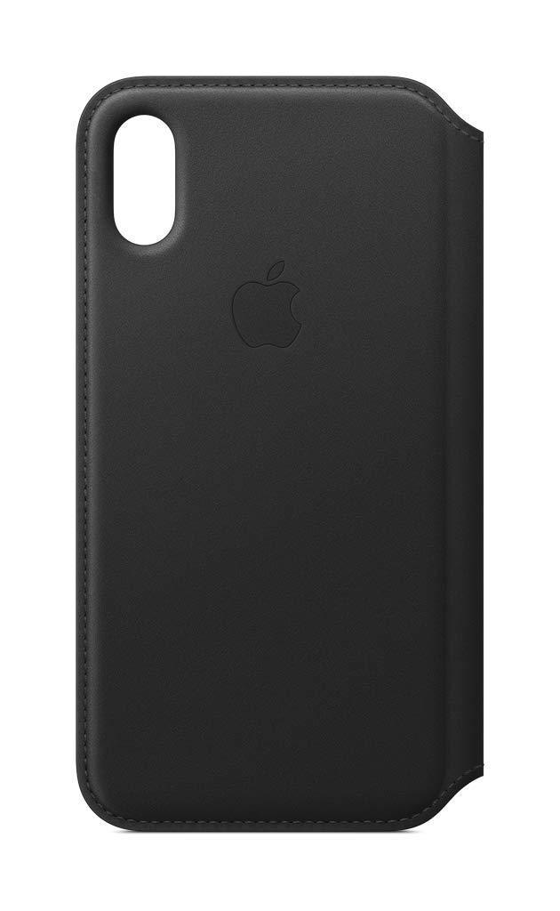 Apple Leather Folio (for iPhone Xs) - Black (Renewed)