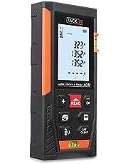 Laser Entfernungsmesser Distanzmessgerät Messbreich 0.05~40m/±2mm mit 2 Level Blasen Messeinheit m/in/ft mit LCD Hintergrundbeleuchtung, IP54 Staub und Spritzwasserschutz - TACKLIFE HD-40