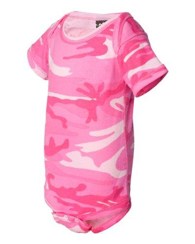 Code Five 4403 Infant Baby Camo Onesie Bodysuit Camouflage Creeper (NB, Pink Woodland)
