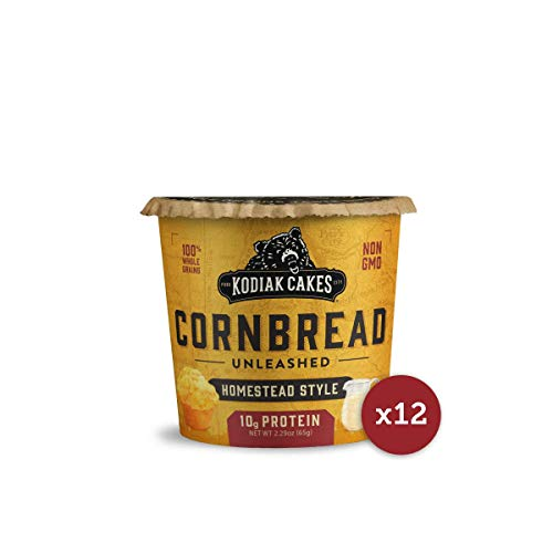 (Kodiak Cakes Cornbread in a Cup, Homestead Style, 2.29 Ounce (Pack of 12) (Packaging May Vary))