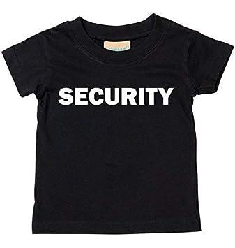 16e064087b Security T-Shirt Baby Und Kindergrößen - Schwarz, 0-6 Months: Amazon ...
