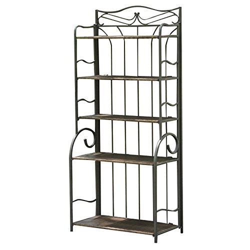 International Caravan Valencia Bakers Rack in Antique Brown