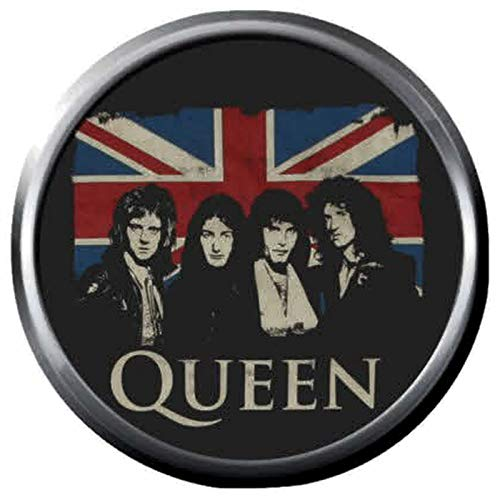 British Flag Queen Band Members Rock and Roll Hall of Fame Musicians 18MM - 20MM Fashion Snap Jewelry Snap ()