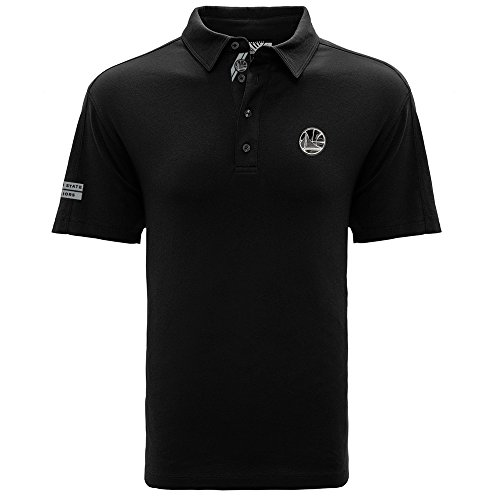 Levelwear LEY9R NBA Golden State Warriors Adult Men Reign Insignia Dart Polo, Small, Black
