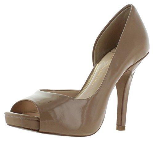 Platforms Jessica Simpson Open Toe (Jessica Simpson Josette D'Orsay Women's Open Toe Heels Beige Size 11)