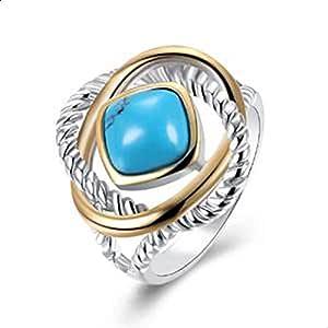 خاتم عرقي حجر بيضاوي 925 فضة استرليني عتيق