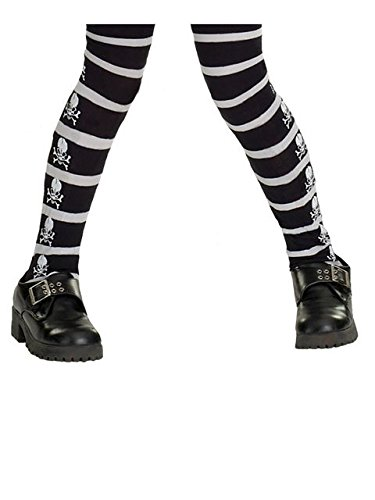 Skull Kid Costumes (Rubies Costume Co Girls' Skull And Crossbone Tights Multicoloured, Large)