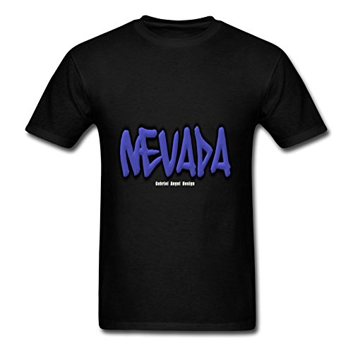 Nevada Graffiti Customized Large T-shirt Men Cotton Short For Black by CharleAlvarez
