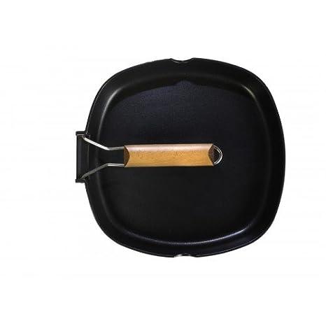 WeCook 10900 Sarten Grill Antiadherente Induccion Vitrocerámica y Fogón, Aluminio, 24 cm, Sin PFOA ni BPA