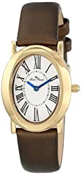 Lucien Piccard Women's LP-12002-YG-02S-BRW Aneto Gold-Tone Stainless Steel Watch with Interchangeable Bands