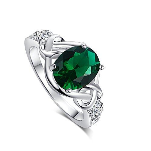Oval Cut Emerald Ring - 7