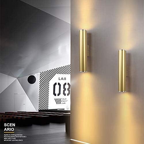 Smisoeq Central lighting Northern Europe Wall Light Gold Tube Design Wall Lights LED Creative Gold Wall Lamp Loft Bedroom Corridor Bar Coffee Shop Light qbz
