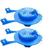 DOITOOL 2Pc Toilet Water Tank Cap Tote Lid Cover Water Liquid Tank Cap Water Saving Toilet Flapper with Chain