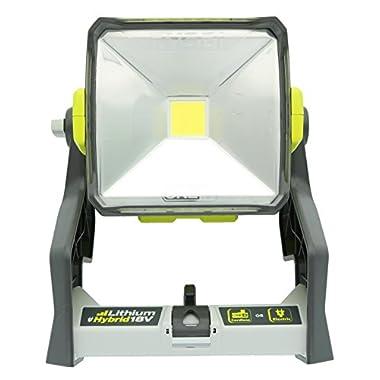 Ryobi P720 One+ 18-Volt Dual Power 20-Watt LED Work Light w/ Tripod Mount (Battery Not Included / Tool Only)