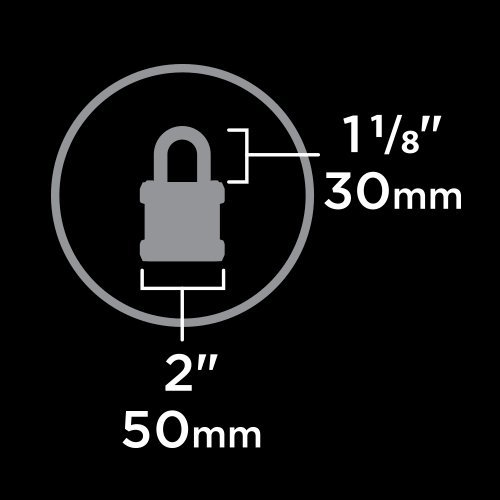 Kwikset 50MM SmartKey Padlock Standard Shackle in Satin Chrome by Kwikset (Image #5)