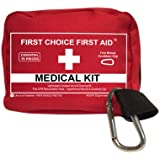 FIRST AID KIT PERSONAL Emergency Medical Bag - Small Lightweight ER Medic Pouch for Wound Trauma Outdoor Weatherproofed Fishing Sports Camping Survival Bike Auto Travel Home Best Quality