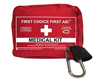 FIRST AID KIT PERSONAL Emergency Medical Bag – Small Lightweight ER Medic Pouch for Wound Trauma Outdoor Weatherproofed Fishing Sports Camping Survival Bike Auto Travel Home Best Quality