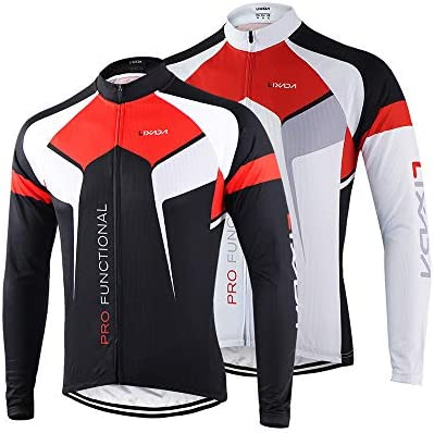 Mens Bike Long Sleeve Clothing Bicycle Sports Wear Jersey Cycling Pants Set Red