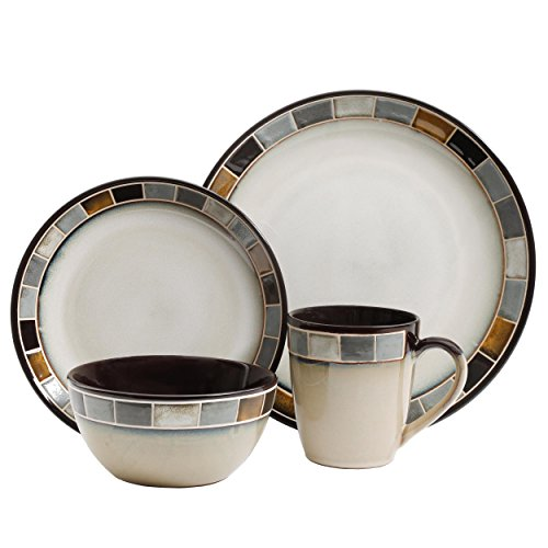 Gibson Elite Casa Gris Reactive Glaze 16 Piece Dinnerware Set Cream and Grey by Gibson  sc 1 st  A Delicate Balance : elite dinnerware sets - pezcame.com