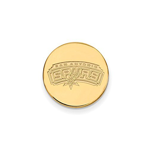 NBA San Antonio Spurs Lapel Pin in 14K Yellow Gold by LogoArt