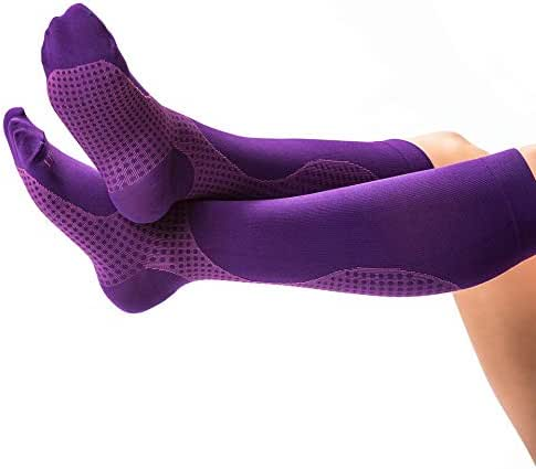 Mens and Womens Compression Socks - XL, Swollen Feet Relief with Thigh High Compression Stockings from Treat My Feet - Post Surgery Support Socks Graduated to Reduce Swelling & Improve Circulation