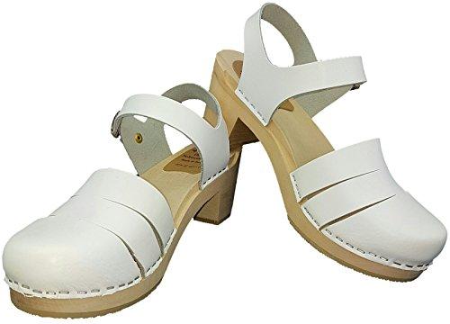 MB Clogs Original Schwedenclogs Damenclogs, Sandalette Weiß - Sandalias de vestir para mujer blanco Weiß