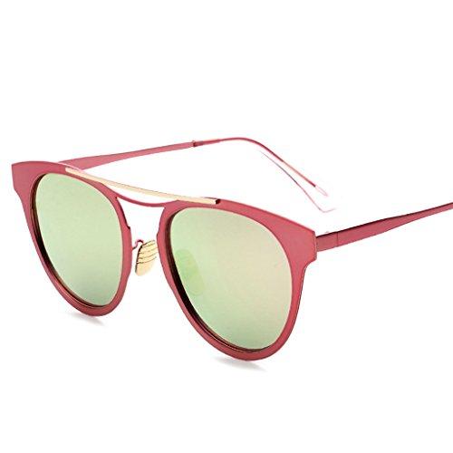 de Sol de Gafas D Redonda los Sol Tendencia de Color Cara B Conducción de Coreanas Gafas de Gafas Gafas Hombres Señoras de Sol la de Las qYvx5qd