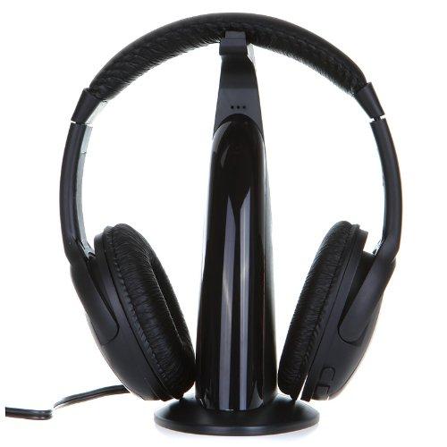 Andoer Función 5 en 1 de HiFi wireless auriculares headphone FM radio Monitor de MP3 PC TV Audio Teléfono móviles: Amazon.es: Electrónica