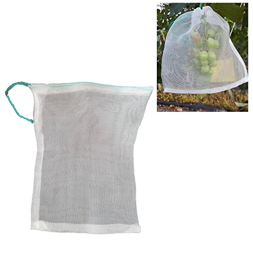 Grape Carrier (SYOOY 20 PCS Insect Net Cover Seed Carrier Bag with Pull Rope for Fruits Vegetables Flower 13.8
