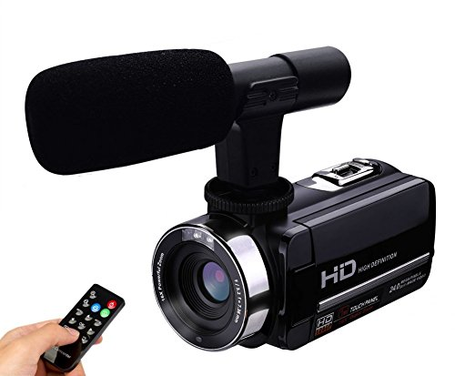 Camera Camcorder External Microphone Input Night Vision Full HD 24.0MP Digital Video Recorder 3.0″ Touch Screen Hot Shoe … …
