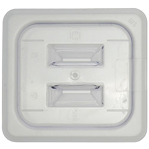 Sixth Size Notched Cover With Handle For Cold Food Pans Translucent ()