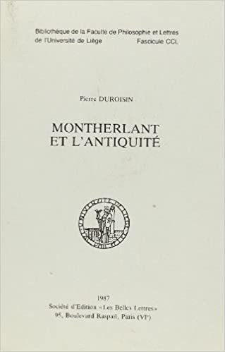 Read Montherlant et l'Antiquite pdf, epub