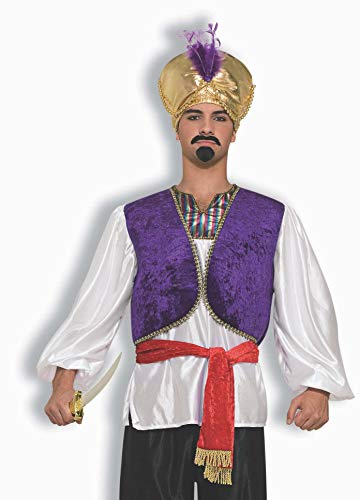 Forum Novelties Men's Desert Prince Costume Shirt and Vest, Multi, One size -