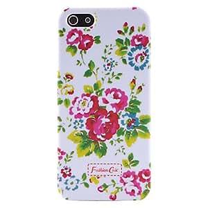 GDW patrón de caso británico rural pequeño estilo fresco flores de plástico duro para el iphone 5/5s