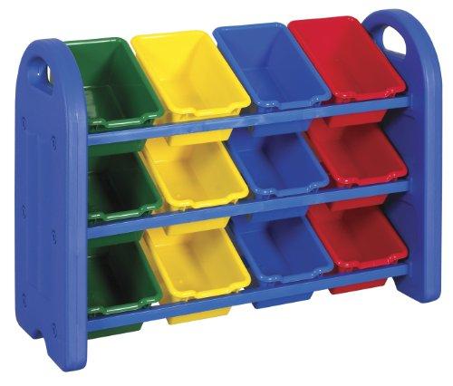 ECR4Kids 3-Tier игрушки для хранения Организатор с 12 бункеров