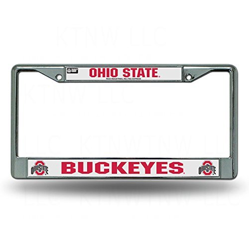 Rico Industries Officially Licensed NCAA Chrome License Plate Frame - Ohio State Buckeyes by Rico