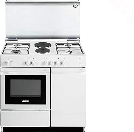 Cocina de gas con horno eléctrico, 4 fuegos + 2 placas, 86 x 50 cm ...