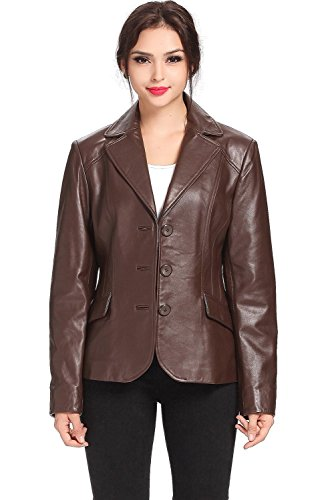 Lambskin Leather Blazer Coat - 7