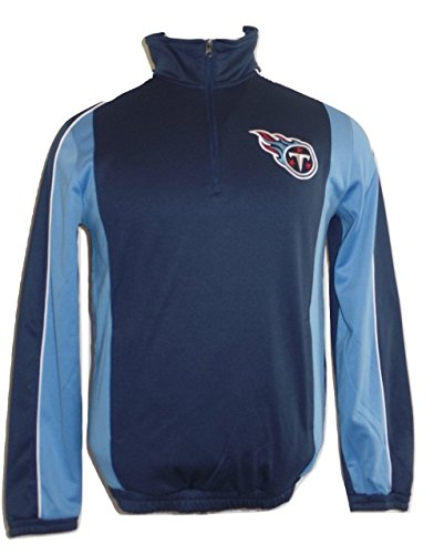 Antigua Pullover Fleece - G-III Sports Tennessee Titans Antigua Navy Blue Quarter Zip Performance Fleece Pullover Jacket