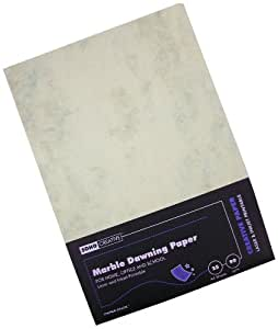 Paperstate Soho - Papel marmolado, 90 g/m², 25 folios, color beige y gris