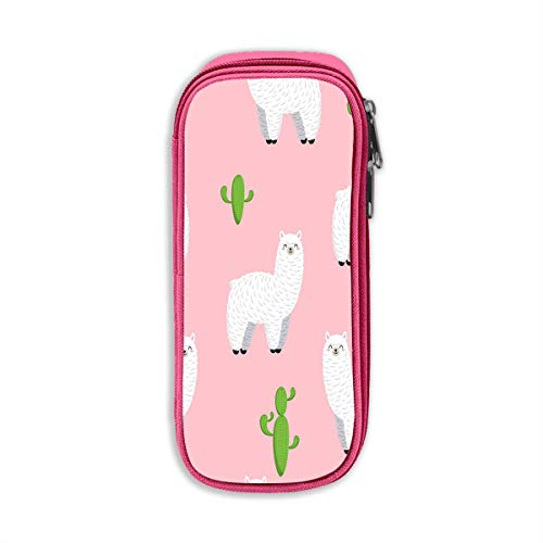 Pencil Pouch Cute Lama Doodle Collection Big Capacity Pencil Pen Case for Office and School Supplies -