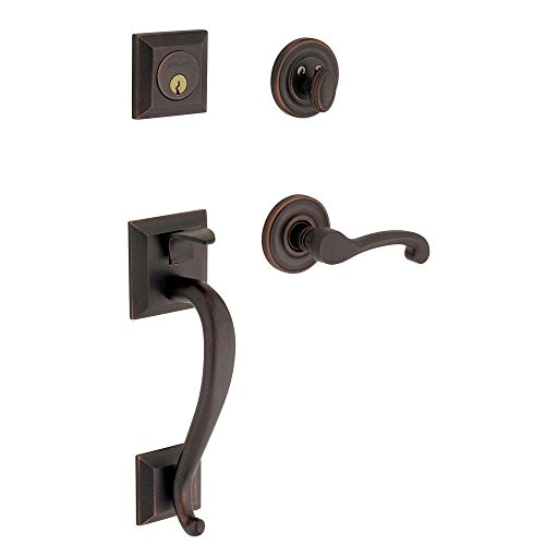 Left Baldwin Hardware Hand (Baldwin 85320.102.Lent Madison Sectional Trim Left Hand Handleset with Classic Lever, Oil Rubbed Bronze)