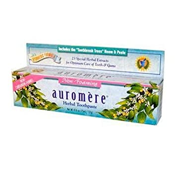 Auromere Cardamom Fennel Non-Foaming Ayurvedic Toothpaste (1x4.16 Oz)
