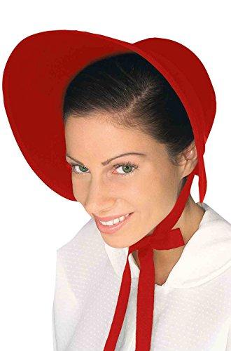 Amelia Bedelia Costume (Forum Women's Wool Felt Bonnet, Red)