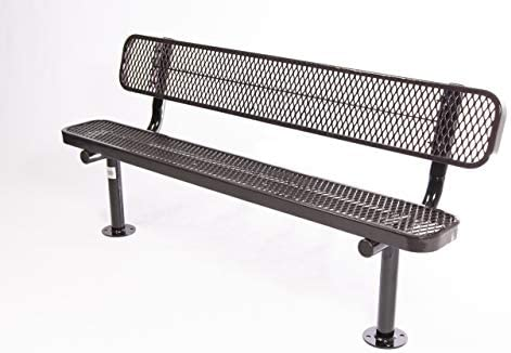Coated Outdoor Furniture B6WBS-BRW Park Bench Back